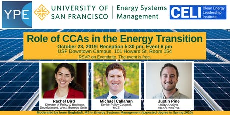 Role of CCAs in the Energy Transition tickets
