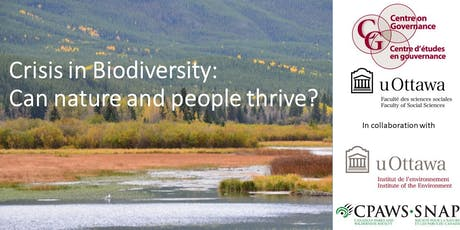 Crisis in Biodiversity: Can Nature and People Thrive? tickets