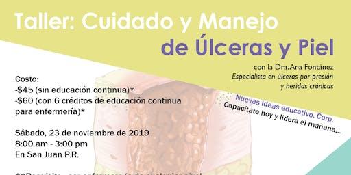 Curso Cuidado y Manejo de Úlceras y Piel (con 6 créditos de educación continua para enfermería)