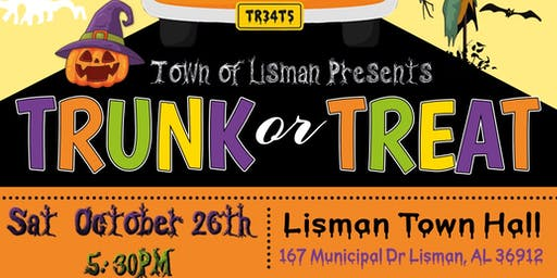 Town of Lisman Presents Trunk or Treat