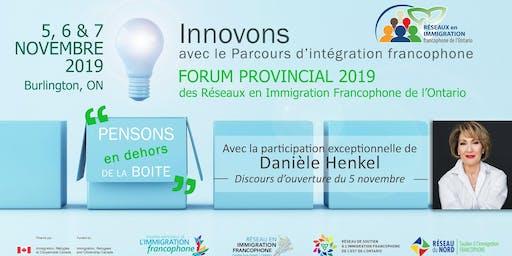 Forum provincial des 3 Réseaux en immigration francophone de l'Ontario