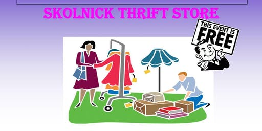 Skolnick Thrift Store Sale