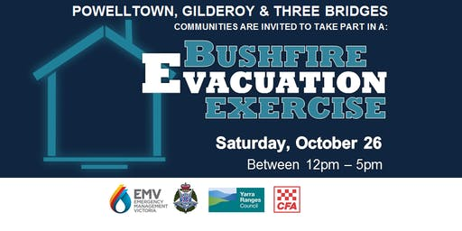 Powelltown, Gilderoy & Three Brigdes - Bushfire Evacuation Exercise