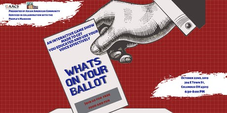 Whats On Your Ballot tickets