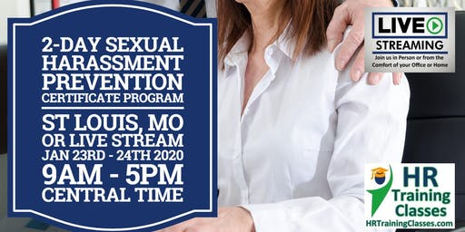 2-Day Sexual Harassment Prevention Certificate Program for HR Professionals