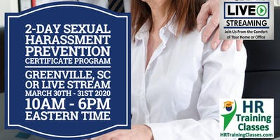 2-Day Sexual Harassment Certificate Program for HR Professionals