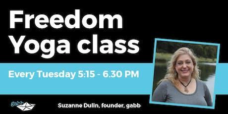 Freedom Yoga Class tickets