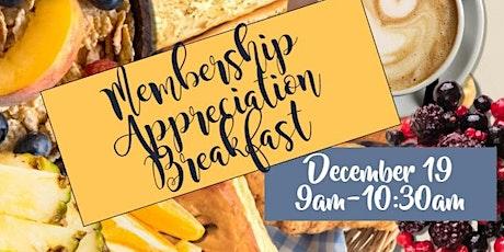 2019 Membership Appreciation Breakfast tickets