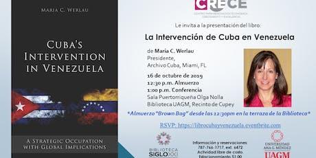 Presentación del libro: La intervención de Cuba en Venezuela entradas