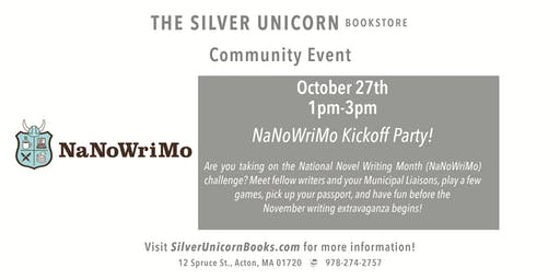 NaNoWriMo Kickoff Party!
