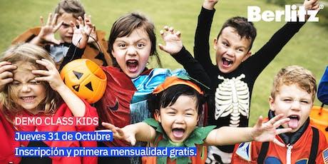 Demo Class Inglés para niños y adolescentes (HALLOWEEN) boletos