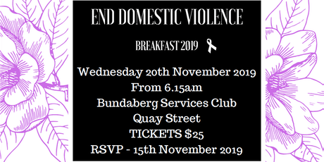 END DOMESTIC VIOLENCE Breakfast 2019 tickets