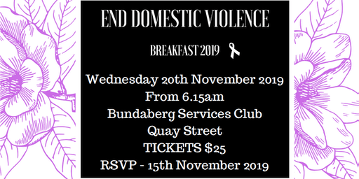 END DOMESTIC VIOLENCE Breakfast 2019