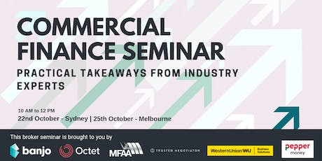 Commercial Finance Broker Seminar - Sydney tickets