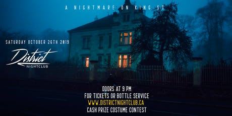 District Nightclub Presents: A Nightmare On King St tickets