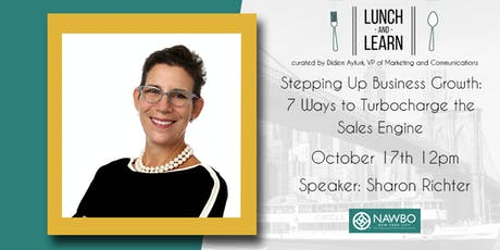 October Lunch & Learn - Stepping Up Business Growth: 7 Ways to Turbocharge the Sales Engine tickets
