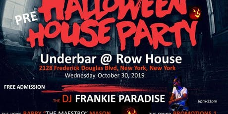 Free Halloween HOUSE PARTY Frankie Paradise tickets