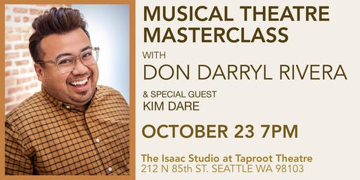 Musical Theatre Masterclass with Don Darryl Rivera