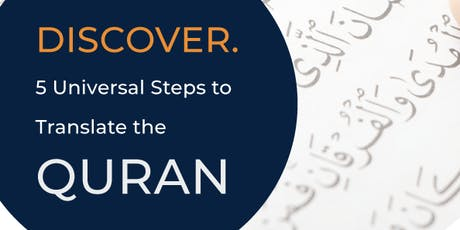 Darwin Discover 5 Universal Steps to Translate the Quran tickets