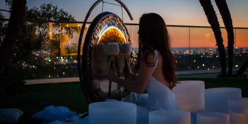 Full Moon Sound Healing with Roxie at 1 Hotel's Stunning  Skyline Deck