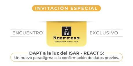 Simposio Roemmers - Dr David Antonucci (DAPT a la luz del ISAR - REACT 5) entradas