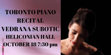 The art of the piano: Steinway artist Vedrana Subotic tickets