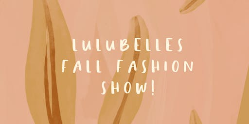 Lulubelles Fall Fashion Event