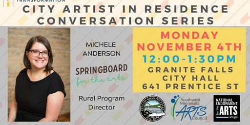 Granite Falls City Artist in Residence Conversation Series