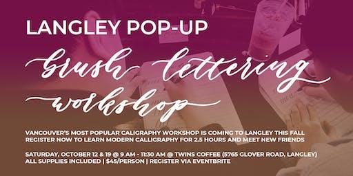 LANGLEY Pop-Up Brush Lettering CALLIGRAPHY ART WORKSHOP Oct 19