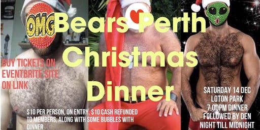 Bear Perth Christmas Dinner  (Saturday 14 December)