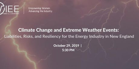 Climate Change Risks and Resiliency for the Energy Industry in New England tickets