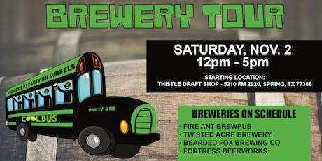 Cool Bus Houston NOVEMBER Brewery Tour - 11/2 tickets