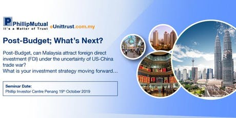 Post Budget 2019 : What is your investment strategy moving forward? (Free Seminar) tickets