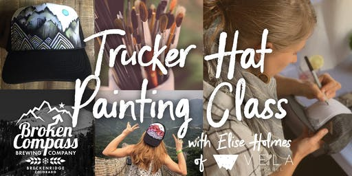 Trucker Hat Painting Class at Broken Compass Brewery