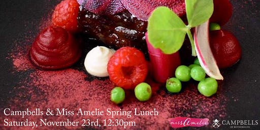 Campbells  Wines Spring Lunch at Miss Amelie