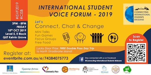 2019 International Student Voice Forum