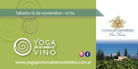 Yoga por los Caminos del Vino - Casa Vinícola Conalbi Grinberg entradas