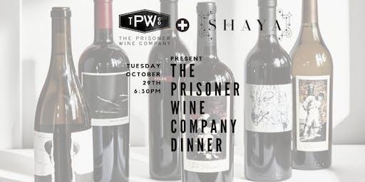The Prisoner Wine Co. + Shaya Wine Dinner