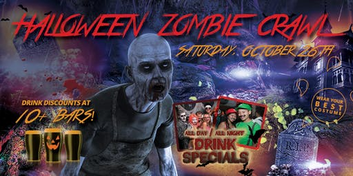LOS ANGELES ZOMBIE CRAWL - Halloween Pub Crawl Oct 26th