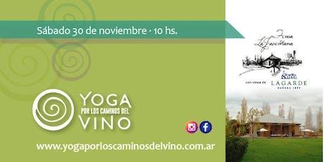 Yoga por los Caminos del Vino - Finca La Jacintana (con vinos de bodega Lagarde) entradas