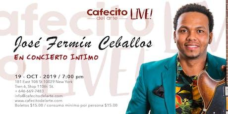 José Fermín Ceballos en concierto íntimo tickets