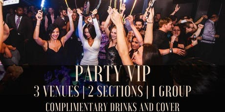 20% OFF VIP Party for a Night in 2 bottle service venues + FREE cover & drinks tickets