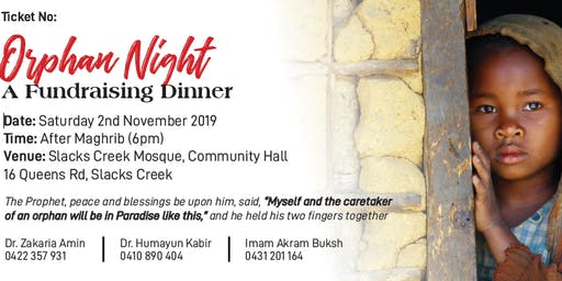 Orphan Night Fundraising Dinner