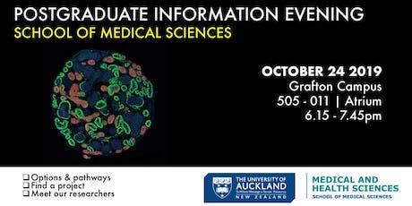 School of Medical Sciences Postgraduate Information Evening tickets