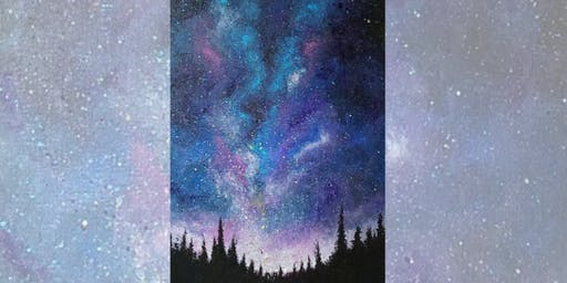 Brew N Brush: Sparkling Skies