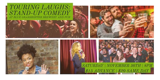 Touring Laughs:  An evening of comedy at The Blue Grasshopper