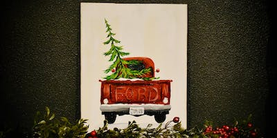Christmas Ford Truck - wood paint lesson