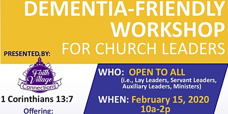 Dementia-Friendly Workshop for Church Leaders @ Allen Temple AME Church tickets