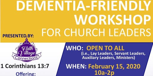Dementia-Friendly Workshop for Church Leaders @ Allen Temple AME Church