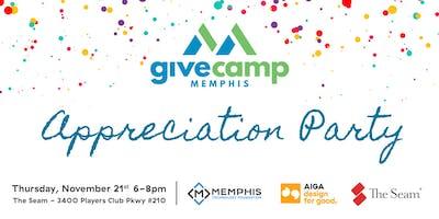 GiveCamp Memphis / Design for Good Appreciation Party
